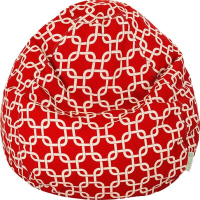 Danko Medium Bean Bag Chair Upholstery: Red