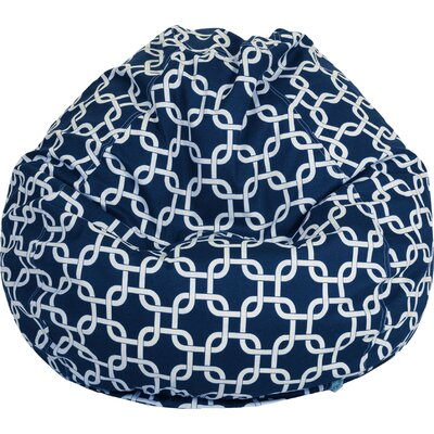 Danko Medium Bean Bag Chair Upholstery: Navy Blue
