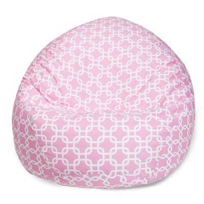Banas Geometric Bean Bag Chair Upholstery: Soft Pink