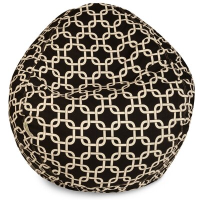 Danko Geometric Bean Bag Chair Upholstery: Black