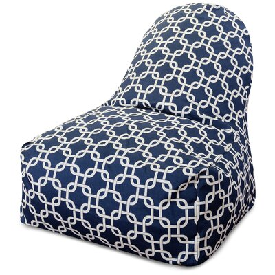 Banas Bean Bag Lounger Upholstery: Navy Blue