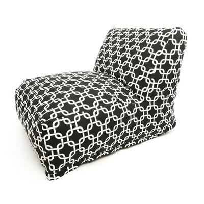 Banas Bean Bag Lounger Upholstery: Black
