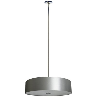 Olivo 5-Light Drum Pendant Finish: Chrome