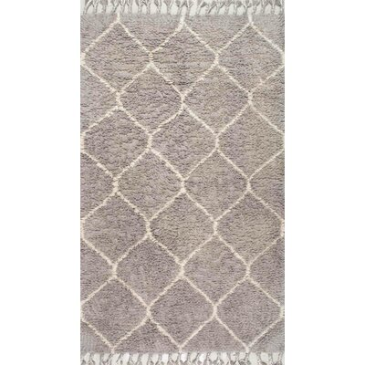 Carla Gray Striped Hand-Tufted Area Rug