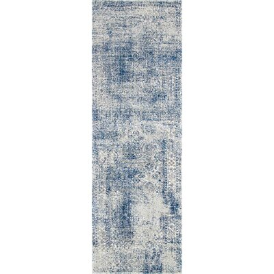 Citium Blue Area Rug Rug Size: Runner 28 x 8