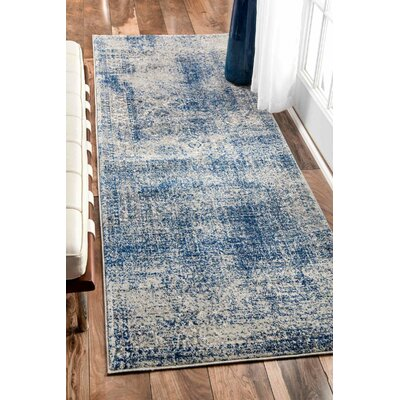 Citium Blue Area Rug Rug Size: Rectangle 8 x 10
