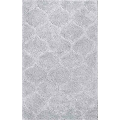 Claverton Hand-Tufted Gray Area Rug Rug Size: Rectangle 5 x 8