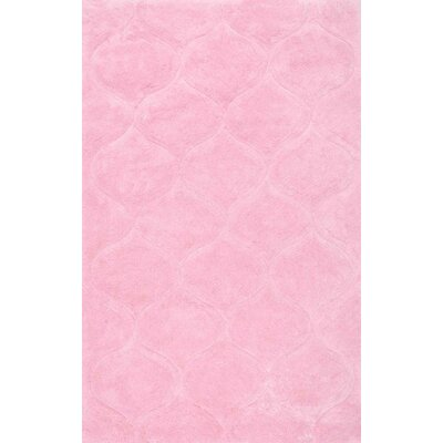 Cleanthes Hand-Tufted Pink Area Rug Rug Size: 7'6