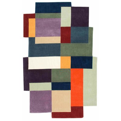Brayden Studio Cleeve Hand-Tufted Green/Purple Area Rug