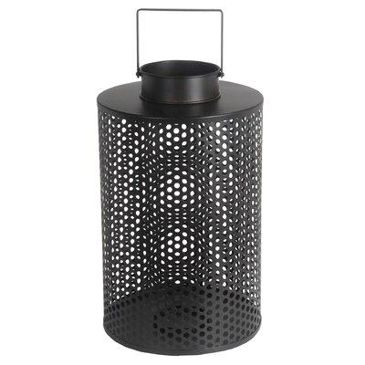 Metal Lantern Size: 18.5 H x 11 W x 11 D