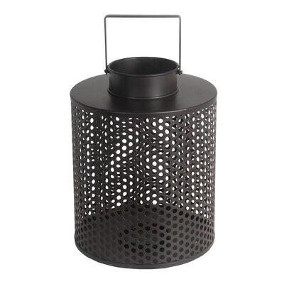 Metal Lantern Size: 15 H x 11 W x 11 D
