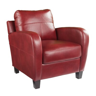 Llewellyn Armchair Upholstery: Deep Cherry Red