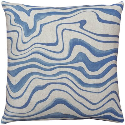 East Drive Wave Throw Pillow Size: 18 H x 18 W x 8 D