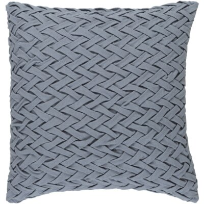 Easton Facade 100% Cotton Throw Pillow Cover Size: 22 H x 22 W x 0.25 D, Color: Medium Gray