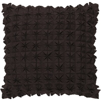 Ebro Structure 100% Wool Throw Pillow Cover Size: 20 H x 20 W x 1 D, Color: Brown