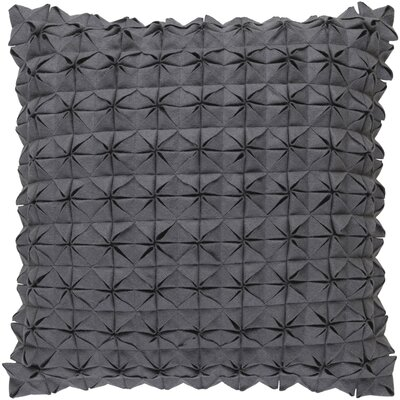 Ebro Structure 100% Wool Throw Pillow Cover Size: 20 H x 20 W x 1 D, Color: Medium Gray