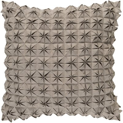 Ebro Structure 100% Wool Throw Pillow Cover Size: 20 H x 20 W x 1 D, Color: Taupe