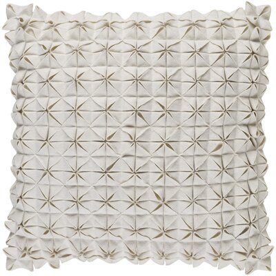 Ebro Structure 100% Wool Throw Pillow Cover Size: 20 H x 20 W x 1 D, Color: Neutral