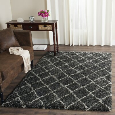 Elbridge Black Area Rug Rug Size: 51 x 76