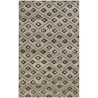 Eldert Hand-Knotted Gray Area Rug Rug Size: 8 x 10