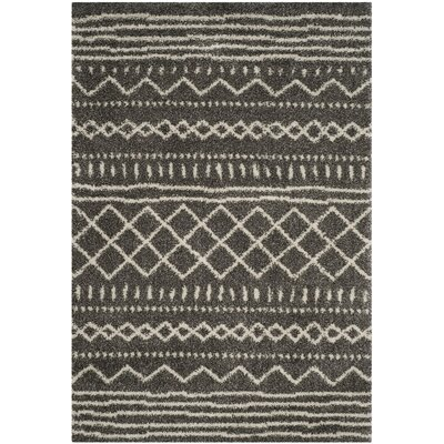 Elbridge Shag Brown/Ivory Area Rug Rug Size: 51 x 76