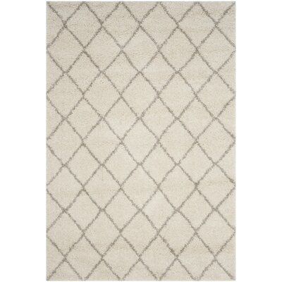 Elbridge Shag Beige/Ivory Area Rug Rug Size: Rectangle 51 x 76