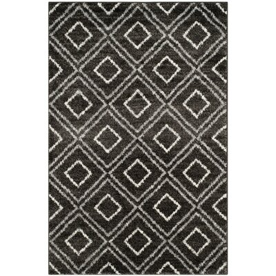 Electra Black Area Rug Rug Size: Rectangle 4 x 6