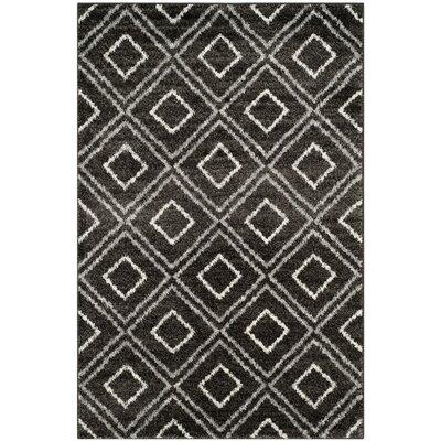 Electra Black Area Rug Rug Size: 4 x 6