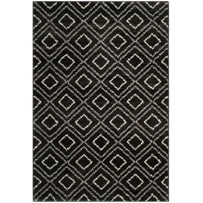 Electra Black Area Rug Rug Size: Rectangle 67 x 92