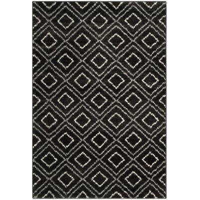 Electra Black Area Rug Rug Size: 67 x 92