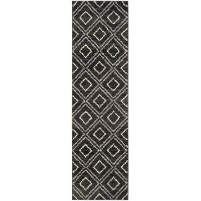 Electra Black Area Rug Rug Size: Runner 23 x 8