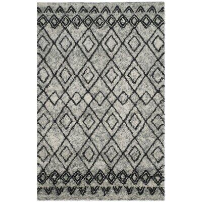 Eleftheria Hand-Tufted Gray Area Rug Rug Size: 4 x 6