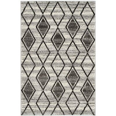 Electra Gray/Beige Area Rug Rug Size: 4 x 6