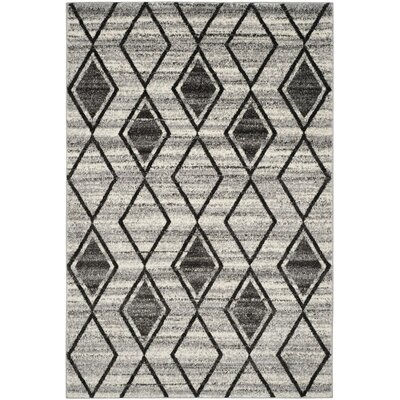 Electra Gray/Beige Area Rug Rug Size: Rectangle 51 x 76
