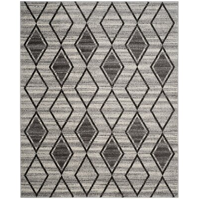 Electra Gray/Beige Area Rug Rug Size: Rectangle 8 x 10