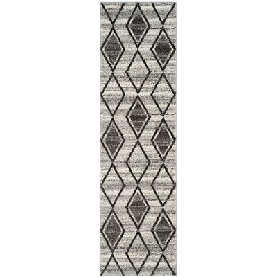Electra Gray/Beige Area Rug Rug Size: Runner 23 x 8