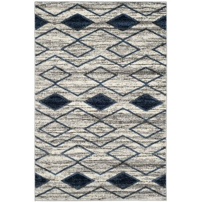 Electra Beige/Blue Area Rug Rug Size: Rectangle 4 x 6
