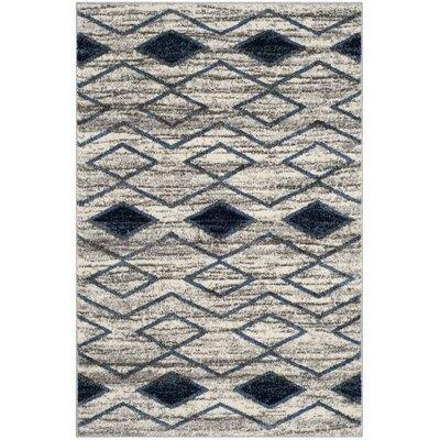 Electra Beige/Blue Area Rug Rug Size: 51 x 76