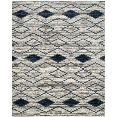 Electra Beige/Blue Area Rug Rug Size: Rectangle 9 x 12