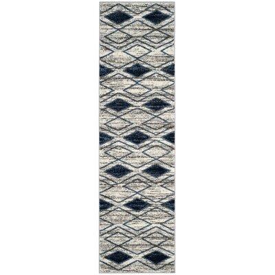 Electra Beige/Blue Area Rug Rug Size: Runner 23 x 8