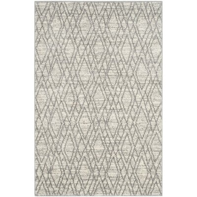Electra Ivory/Light Gray Area Rug Rug Size: 4 x 6