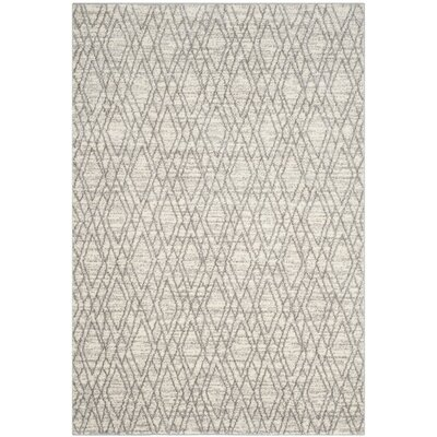 Electra Ivory/Light Gray Area Rug Rug Size: Rectangle 51 x 76