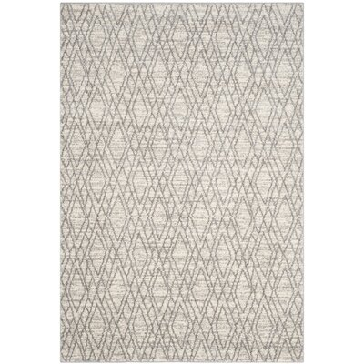 Electra Ivory/Light Gray Area Rug Rug Size: 67 x 92