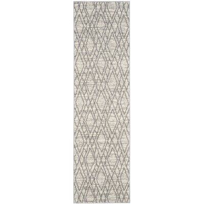 Electra Ivory/Light Gray Area Rug Rug Size: Runner 23 x 8