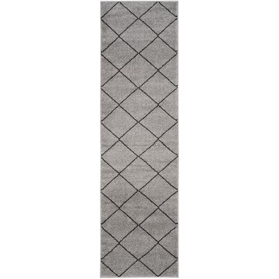 Electra Gray Area Rug Rug Size: Runner 23 x 8
