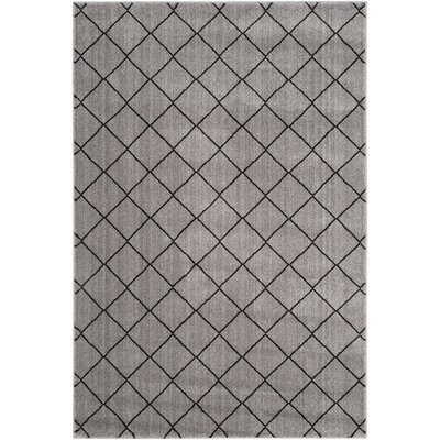 Electra Gray Area Rug Rug Size: 4' x 6'