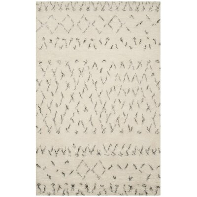 Eleftheria Hand-Tufted Beige Area Rug Rug Size: Rectangle 4 x 6