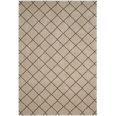 Electra Beige Area Rug Rug Size: Rectangle 51 x 76