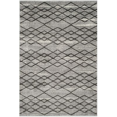 Electra Gray/Black Area Rug Rug Size: 67 x 92