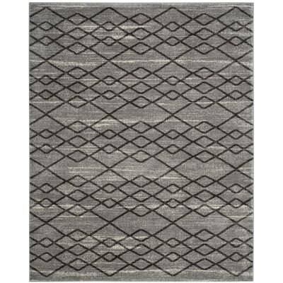 Electra Gray/Black Area Rug Rug Size: Rectangle 8 x 10